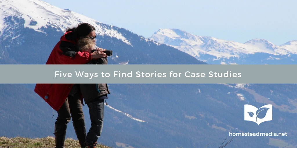 Find stories for case studies
