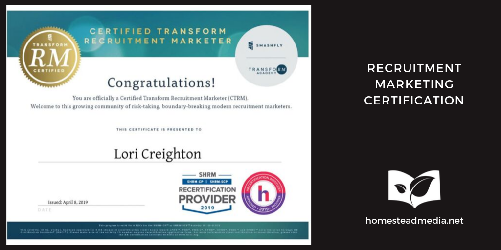 Lori Creighton Recruitment Marketing Certification